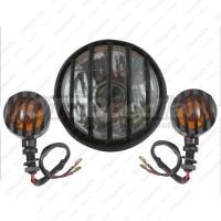 Paket Reflektor - Head Lamp - Lampu Depan + Sen Tralis Motor Custom Ht