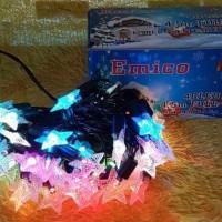 Jual Diskon lampu natal 40 led panjang 4 5m five pointed star Termurah Murah