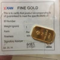 Jual Emas Antam LM Logam Mulia 5 gr bersertifikat Murah