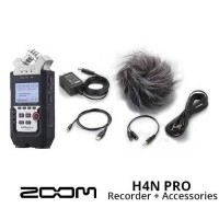 AUDIO RECORDER ZOOM H4N PRO WITH ACCESSORY PACK