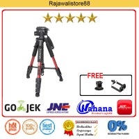 Zomei Q111 RED Camera Tripod For Dslr Canon Nikon Sony Gopro Xiaomi