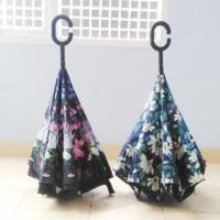 Jual  Payung Terbalik Kazbrella Payung Mobil Reverse Umbrella Gagang C T191 Murah