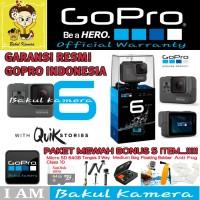 GOPRO HERO6 BLACK 4K (RESMI) PAKET MEWAH / GOPRO HERO 6
