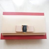 Dompet Salvatore Ferragamo Sf Vara Nude Bisque Wallet Original