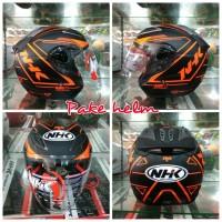 HELM NHK R6 AIR FIT BLACK ORANGE DOF