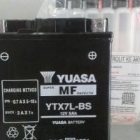 Aki Vespa LX 150 Yuasa YTX7L-BS Maintenance Free
