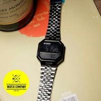 Jam Tangan Unisex / Nixon / Digital Time / Stainless Steel / Black