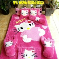 Karpet Karakter Custome Hello kitty Doraemon Frozen Keropi