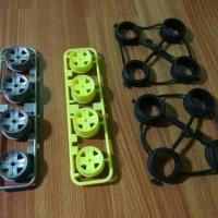 Jual tamiya velg wheel dan ban tires original bawaan box/loose part Murah