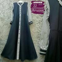 Annora Dress Brunee Gamis Fashion Hijab