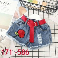 Hot pants Celana pendek jeans anak perempuan 586