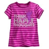 tinkerbell striped t shirt size 5-6 Ori Disney Store