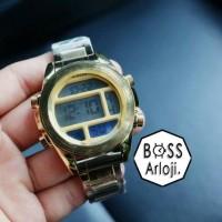 Jam Tangan Unisex Nixon Digital Time Stainless Steel Gold