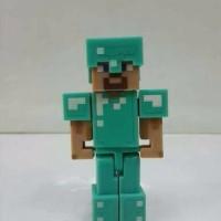 Action Figure minecraft Steve with Diamond Armor mojang original BER