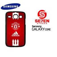 Casing Samsung Galaxy Core 1 manchester united adidas Custom Hardca