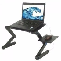 PORTABLE TABLE LAPTOP MEJA ALUMUNIUM HOLD MOUSE