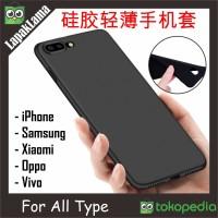 Case Slim Black Matte All Type Xiaomi Oppo Vivo iPhone Samsung Matte