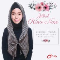 |Jilbab Rina nose hoodie cantik pasmina hijab modern instant syari k2.