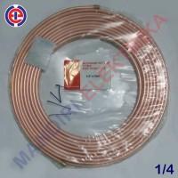 Pipa Tembaga 1/4 in (6mm) NS-Nippon Steel | Pipa Kulkas/AC Berkualitas