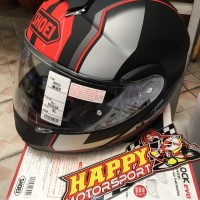Helm Shoei Neotec Modular Imminent Black matt Red size XL dual visor