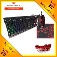 Keyboard Fantech Gaming K612 + Mouse Gaming X7 + Mousepad Gaming Mp25