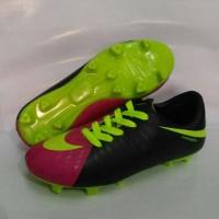 sepatu bola anak nike hypervenom hitam pink ukuran 36&37