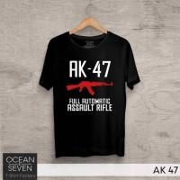 AK 47 Kaos Senjata Kaos Ocean Seven Kaos Distro Tshirt Kaos Tentara