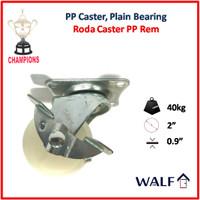 Roda Caster PP Polypropylene (Roda Brake / Rem) 2 Inch | 2039-50