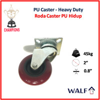 Roda Caster PU - heavy duty (Roda Swivel / Hidup) 2 Inch| 3043-50