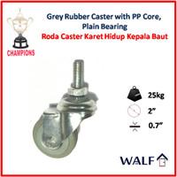 Roda Caster Karet Abu-abu (Roda Swivel / Hidup) 2 Inch | 3062-50