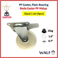 Roda Caster PP Polyprolylene (Roda Swivel / Hidup) 1.6 Inch | 2037-40