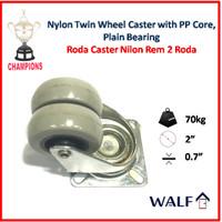 Roda Caster Nilon 2 Roda (Roda Brake / Rem) 2 Inch | 2071-50