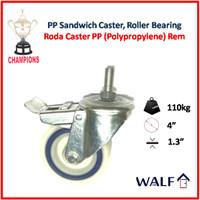 Roda Caster PP (Roda Brake / Rem) 4 Inch | AL08100