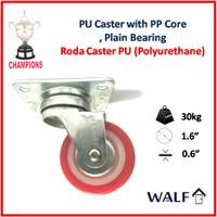Roda Caster PU 40 mm / 1.6 Inch | PC0340