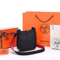Tas Hermes Evelyne Mini TPM Clemence Hitam SOC1044
