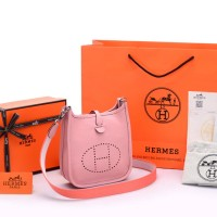 Tas Hermes Evelyne Mini TPM Clemence Softpink SOC1044