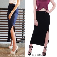Jual PROMO Basic Long Slit Maxi Skirt RK107 Murah