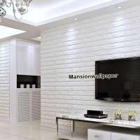 Jual Wallpaper Foam Panel Korea Bata Putih Murah