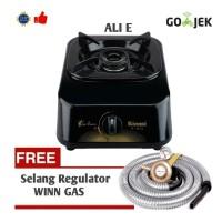 Paket Rinnai RI-301S Kompor Gas 1 Tungku + Selang Regulator Winn