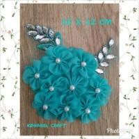 headpiece hijab/aksesoris jilbab pesta/bros sakura cantik