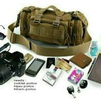 Jual tas selempang slempang army tactical pria slingbag waistbag impor Murah