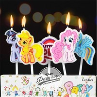 lilin karakter little pony / lilin ulang tahun / lilin little pony