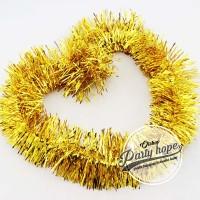 Slinger / tinsel / hiasan natal / parcel / slinger rumbai warna kuning