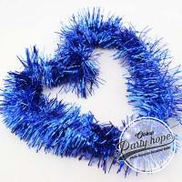 Slinger / tinsel / hiasan natal / parcel / slinger rumbai warna biru
