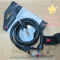 Jual Kunci Gembok Sepeda Polygon Cable Lock / Safety Lock Murah