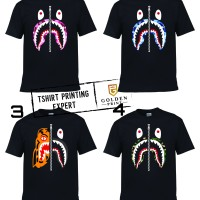 kaos bape shark / bape shark tshirt / kaos branded / kaos anak / kaos