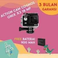 Jual Action Camera Cognos ONIX X3 4K 16 MP - Hitam Murah