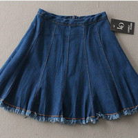 midi skirt flare a line rok payung dress skirt korea fashion wanita