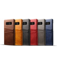 Premium Card Slot Leather Case Samsung Note 8 Casing HP Kulit Import