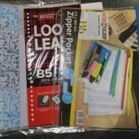 Paket kuliah Binder note B5+loose leaf+zippocket+divider Hemat